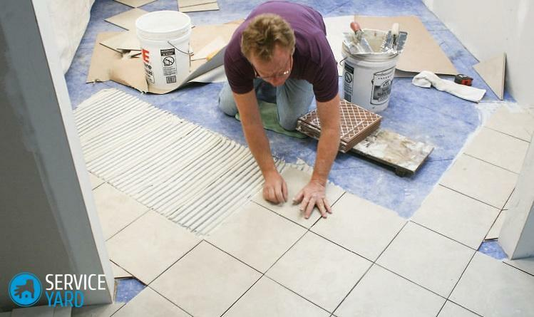 How to lay the tile in the bathroom with your own hands?