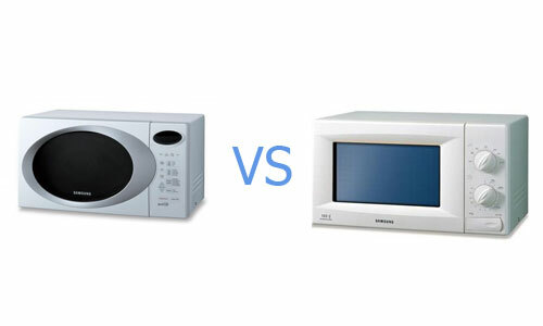 Which is more convenient: mechanical or sensory control of the microwave oven