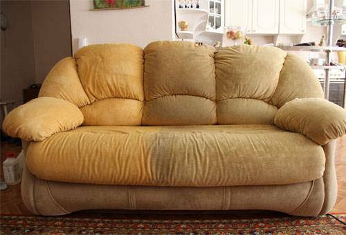 How to clean the sofa from the fabric at home: get rid of dirt, dust, stains and unpleasant odors