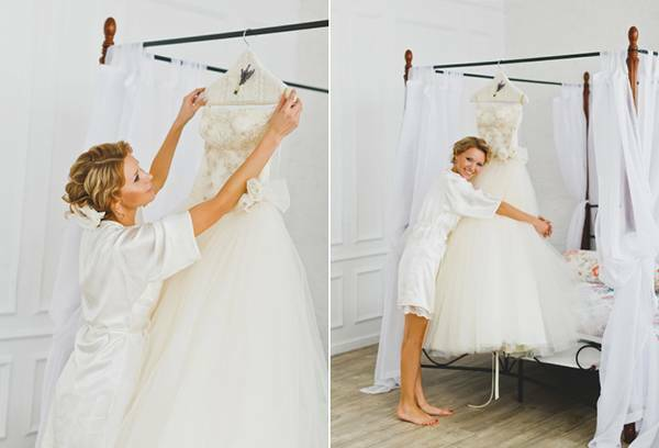 How to pat the wedding dress correctly and not spoil the fabric?