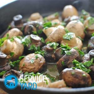 Do you need to cook champignons before frying?