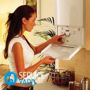 Cleaning the gas boiler