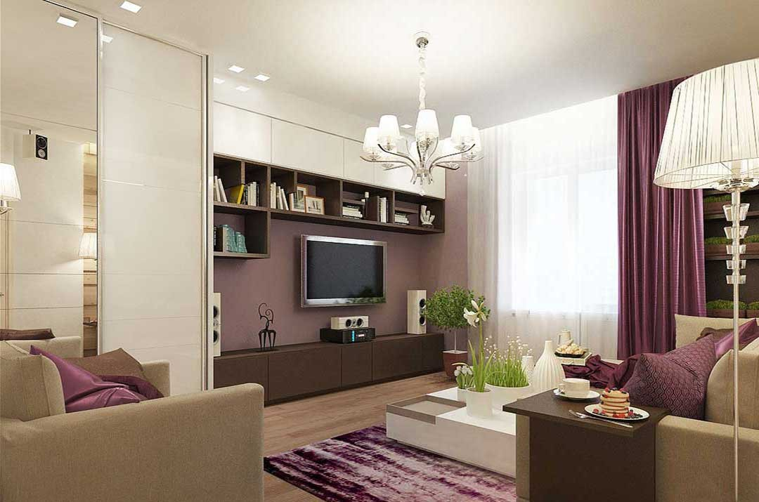 Design of the room of 18 square meters: Examples of planning and zoning, interior photo ideas