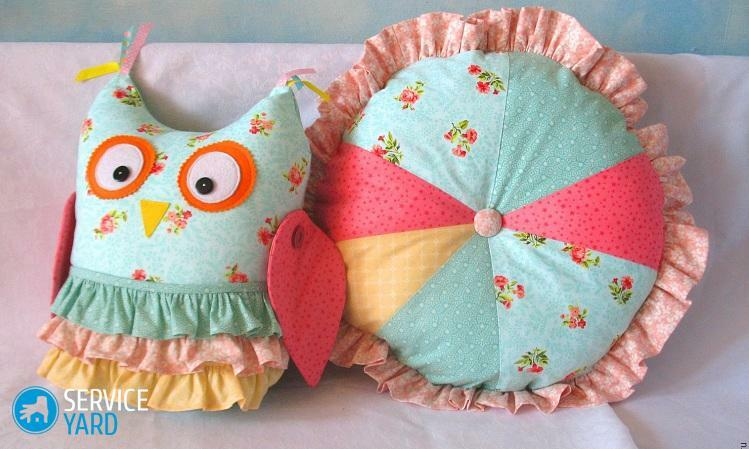 How to sew a round pillow?