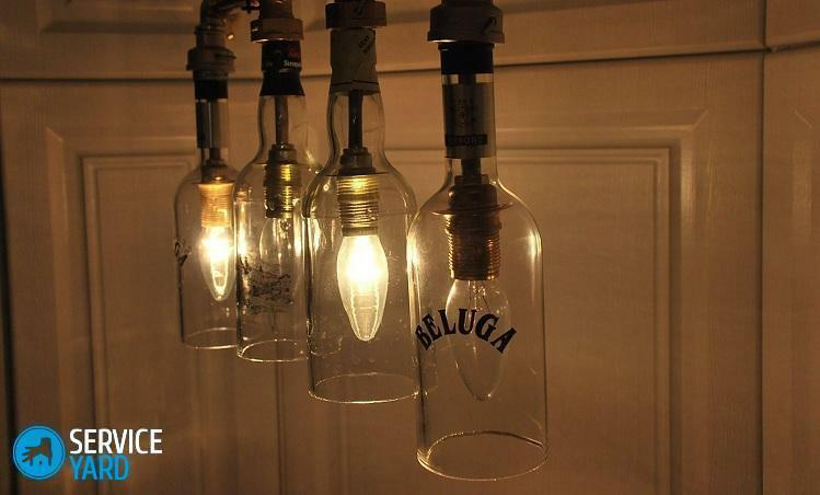 Lamp from the bottle with your own hands