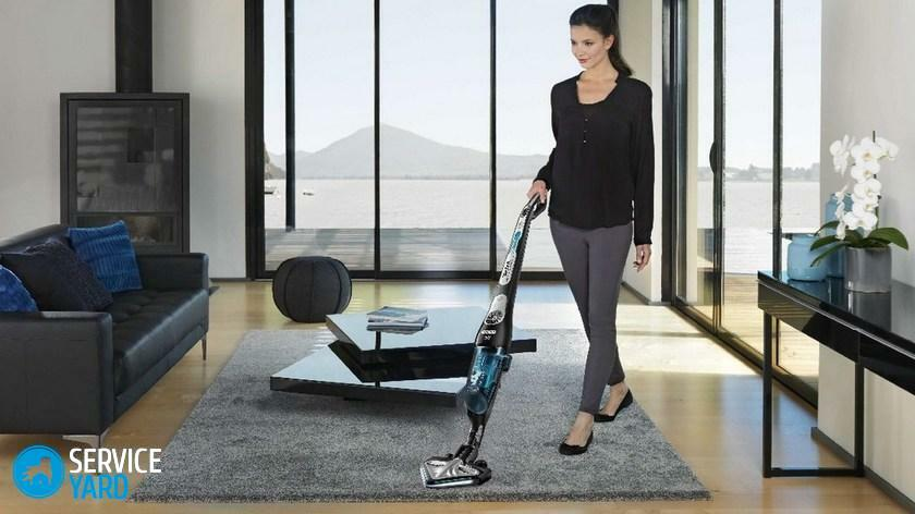 Vertical vacuum cleaner with mains power supply