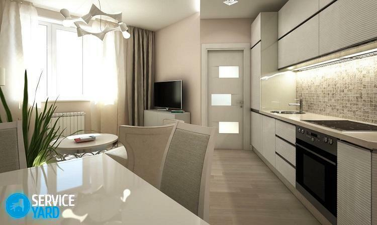 Kitchen design 9 sq. M.m