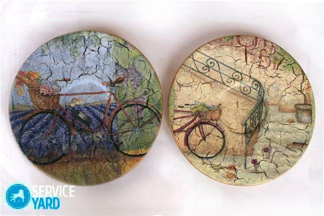 Decoupage of plates with napkins with their own hands - for beginners, step by step