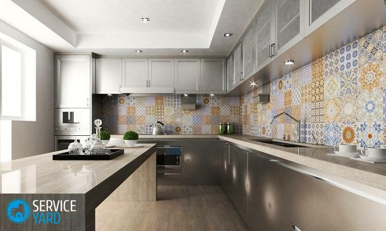 Design of walls in the kitchen, interesting ideas