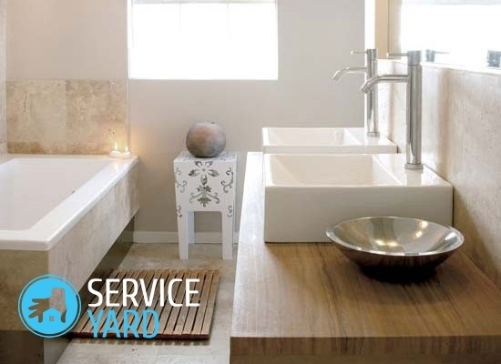Sink over the washing machine - decorate the small bathroom comfortably