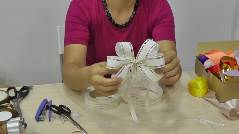 Decor with their hands 5 ways to manufacture a bow for gift wrapping