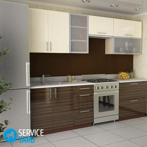Than to wash glossy facades of kitchen?