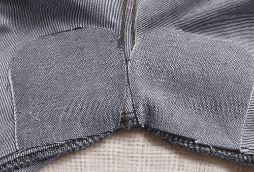 How to sew a patch manually on elbows and damaged pants or jeans