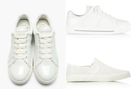 Care for white shoes made of leather, fabric and suede at home
