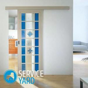 Replacement of glass in the interior door with your own hands