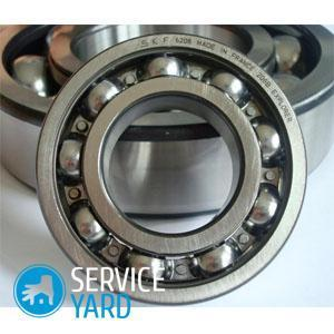 How to lubricate the bearing in a washing machine?
